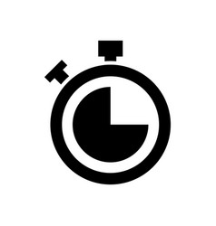 stopwatch countdown clock buttons icon vector image
