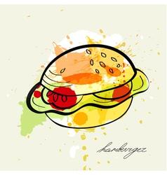 stylized hamburger vector image