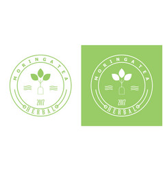 Tea badge vector
