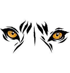 Tiger eyes mascot graphic in vector