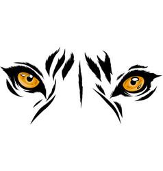 Tiger eyes mascot graphic vector