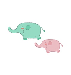 Two elephants vector