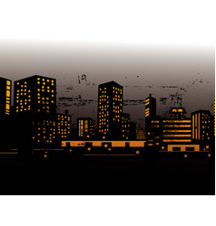 urban skylines vector image