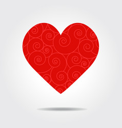 valentines love heart vector image