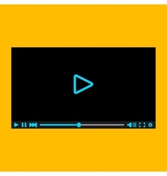 Video player for web eps10 vector image