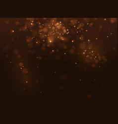 golden abstract luxury bokeh background light vector image vector image