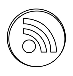 silhouette symbol wife icon vector image