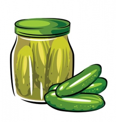 canned pickles vector image