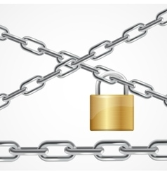 Chain Metal and Lock vector image vector image