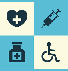 drug icons set collection of disabled painkiller vector image