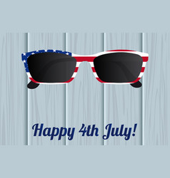 Glasses design of the american flag vector