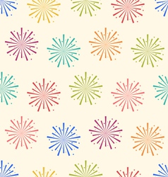 Seamless Pattern Colorful Firework for Holiday vector image