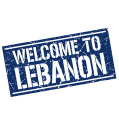 welcome to lebanon stamp vector image vector image