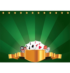 casino horizontal background vector image