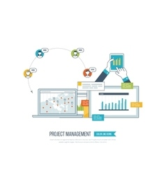 Concept of project management investment finance vector image vector image