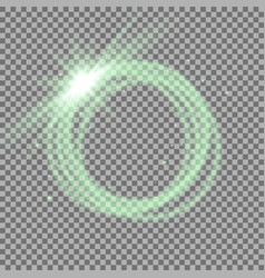 light ring with tracing effect vector image