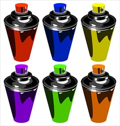 spray for graffiti vector image