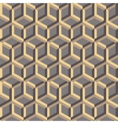 3d abstract geometric seamless background vector image vector image