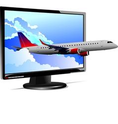 Al 0812 plane with screen 01 vector