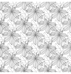 Autumn seamless leaf pattern 11 vector image vector image