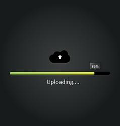 Cloud Uploading progress bar vector image vector image