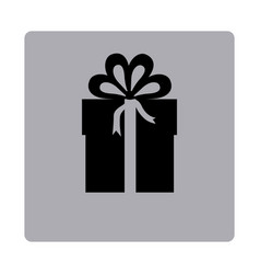 figure emblem box with bow ribbon icon vector image vector image