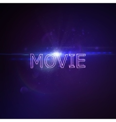 Movie 3D Neon Sign vector image