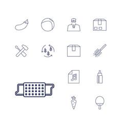 13 closeup icons vector