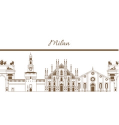 803 milan template vector