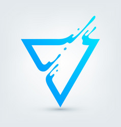 Abstract blue triangle vector