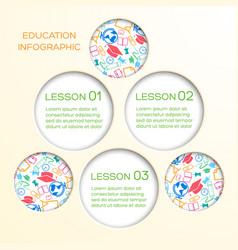 abstract school infographics vector image