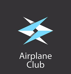 airplane club logo emblem airlift company vector image