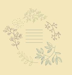 Autumn Flowers post card vector image