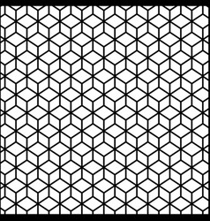 black contour line with hexagon pattern vector image