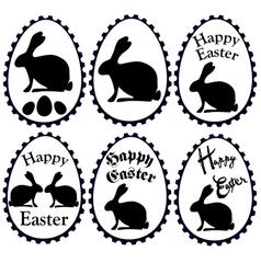 Black easter eggs vector