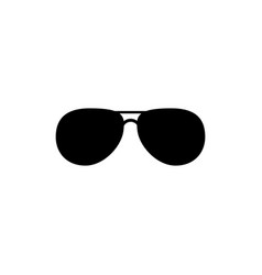 Black fashion sunglasses isolated clipart black vector