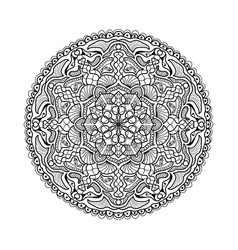black mandala beautiful design element vector image