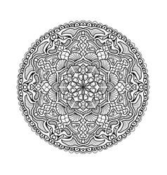 black mandala beautiful design element vector image