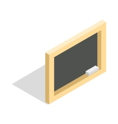 Board with chalk icon isometric 3d style vector