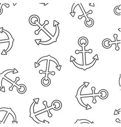 boat anchor sign icon seamless pattern background vector image
