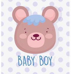 boy or girl gender reveal its a boy cute bear vector image