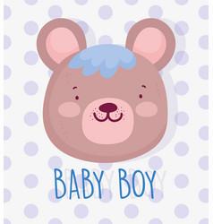 Boy or girl gender reveal its a boy cute bear vector