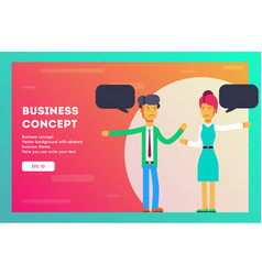 business concept teamwork metaphor vector image