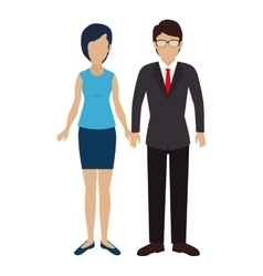 business couple isolated icon vector image