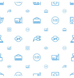 cable icons pattern seamless white background vector image