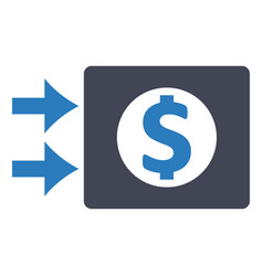 cash money finance icon vector image