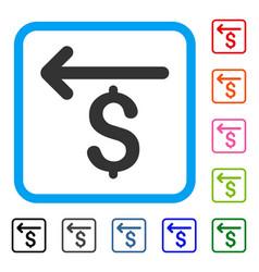 Cashback framed icon vector