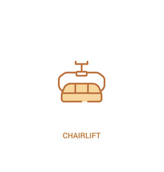 Chairlift concept 2 colored icon simple line vector