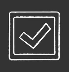 Checkbox chalk icon vector