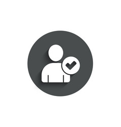 Checked user simple icon profile avatar sign vector
